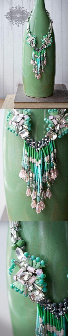 Bitter Sweet Jewellery. Spring Summer 2015. #statementnecklace #blue #pink #bold #turquoise #mint #green #teardrop #pear