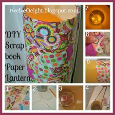 twelve-O-eight: DIY Scrapbook Paper Lantern