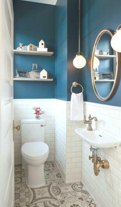 42 Small Bathroom Designs and Ideas – Bathroom Furniture – Bathroom Ideas Bathroom Design Small, Bathroom Colors, Bathroom Interior Design, Bathroom Designs, Interior Livingroom, Small Bathrooms, Interior Paint, Hallway Decorating, Entryway Decor