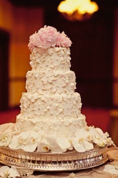 cake From the looks of this wedding - and the marvelous cake, we'd say this girl LOVES flowers!! by frankie