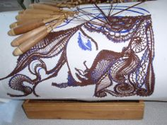 Online shopping from a great selection at Arts, Crafts & Sewing Store. Textile Design, Textile Art, Bobbin Lacemaking, Lace Heart, Lace Jewelry, Needle Lace, Lace Making, Sewing Stores, Lace Detail