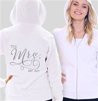 """The Mrs. EST 2016/2017"" Custom Rhinestone Fleece Hoodie 