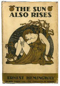 The first edition of The Sun Also Rises published in 1926 by Scribner's, with dust jacket illustrated by Cleonike Damianakes. The cover uses a Hellenistic design and was intended to tastefully suggest a quasi-sexual theme.    The Sun Also Rises is a 1926 novel written by American author Ernest Hemingway.  Scribner; 1st Scribner Paperback Fiction Ed edition (April 6, 1998)