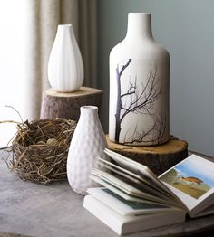 Nature-Inspired Paper Projects-photo transfer on vase