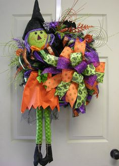Scarecrow Witch Wreath – MilandDil Designs