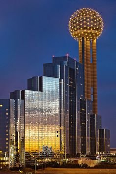 Reunion Tower Dallas Texas -  Stayed here for the 2012 Bama Kick Off Classic against Michigan.  Beautiful hotel, fun city to visit.