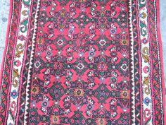 """2'9"""" x 46' Genuine Persian Rudbar Runner Oriental Rug - Hand Made - Full Pil by trimsandbuttons on Etsy"""