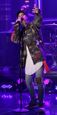 7 Style Lessons We Learned from Justin Bieber - CAMO IS A CLASSIC from InStyle.com