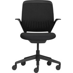 Steelcase® cobi™ Black Office Chair in Office Chairs | Crate and Barrel