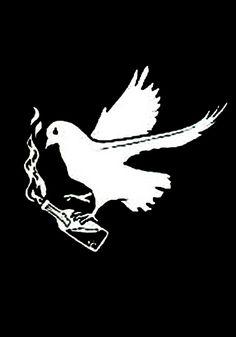 Anarchist Molotov Dove Anti-War / Protest T-Shirt ( #Anarchism #Revolution )