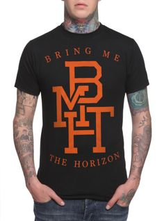 Bring Me The Horizon Orange BMTH Logo T-Shirt | Hot Topic  my shirt i got it should be coming in a couple of days