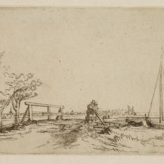 Rembrandt, Bruggetje van Jan Six ( B 208 ), 1645. Teylers Museum