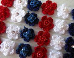 Lacinho Florzinha de Crochê Autocolante
