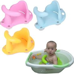 Baby Infant Kid Child Toddler Bath Seat Ring Anti-slip Safety Chair Mat Pad Tub Bathtub--4 Colors Available on Etsy, $33.50