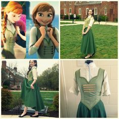Anna's Dress from the ending of Disney's by SeamlessSunshine