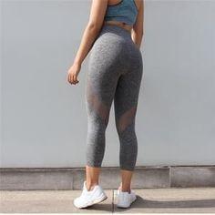 Fashion Leisurewear Capri Running Yoga Pants Leggings | Free Shipping Worldwide – Activa Star Women's Sports Leggings, Gym Leggings, Tight Leggings, Leggings Are Not Pants, Workout Capris, Yoga Capris, Yoga Pants, White Capri Leggings, Capri Pants