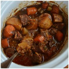 ❤️CROCK POT BEEF STEW FOR TWO ❤️ This savory Crock Pot Beef Stew…