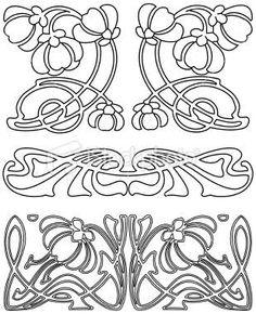 Risultati immagini per art nouveau design