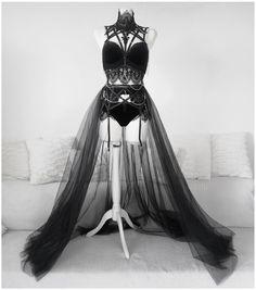 Black Pepper Set by Askasu Egirl Fashion, Dark Fashion, Gothic Fashion, Fashion Outfits, Lingerie Outfits, Dress Outfits, Cool Outfits, Pretty Dresses, Beautiful Dresses