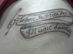 When words fail, Music speaks Fish Tattoos, I Tattoo, Fails, Words, Music, Muziek, Musik, Songs