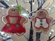 Gisela+Graham+Christmas+Set+of+2+Jolly+Gingerbread+Boy/Girl+Tree+Decorations