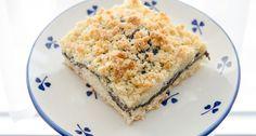 Streusel-Mohnkuchen. Ideal zum Kaffee oder Nachtisch mit einem einfachen Rezept.