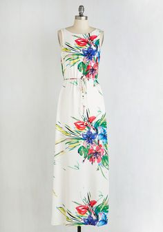I Do What I Canvas Dress. Wield that artistic eye to compose a masterpiece ensemble around this white maxi dress! #multi #modcloth