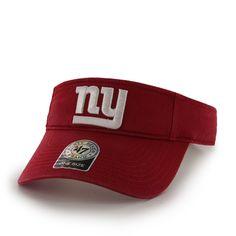 New York Giants Clean Up Visor Red 47 Brand Adjustable Hat 5ef6b8ab7
