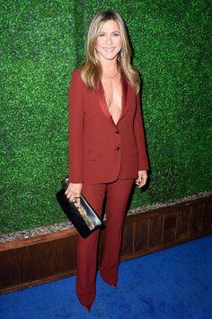Jennifer Aniston in Gucci at the 2015 Critics Choice Awards.