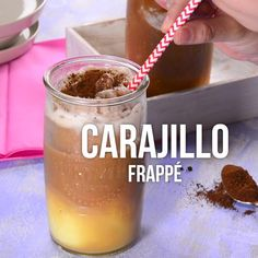 Video of Carajillo Frappé - Nothing like the flavor of a rich carajillo and what better than making it frappe. This refreshing - Keto Coffee Recipe, Coffee Recipes, Starbucks Recipes, Alcohol Recipes, Homemade Chocolate, Creative Food, Clean Eating Snacks, Healthy Drinks, Nutrition Drinks