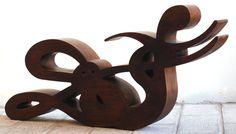 """2002 Cuoghi Corsello """"SUF"""" scultura di legno"""