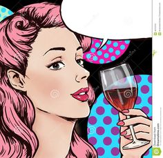 pop-art-illustration-woman-glass-wine-speech-bubble-pop-art-girl-party-invitation-birthday-greeting-card-48731910.jpg (1334×1300)