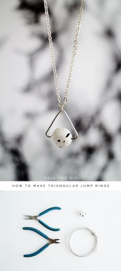 Fall For DIY How to Make Triangular Jump Rings Materials