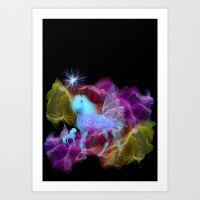 Ghostly Unicorn Art Print