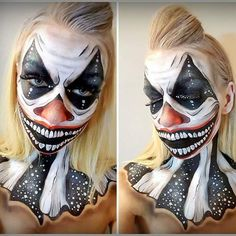 Creepy Clown #facepainting #malowanietwarzy #makeup #makeupartist #diamondfx #photooftheday #facepaint #creepy #clown #creepymakeup #freak #malowanietwarzy #polska #poland #wroclaw #wrocław #halloween #halloweenmakeup
