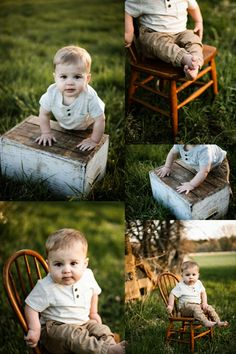 Outdoor Baby Pictures, Fall Baby Pictures, One Year Pictures, Baby Boy Photos, Outdoor Baby Photography, Baby Boy Photography, Boy Birthday Pictures, First Birthday Photos, First Birthday Photography