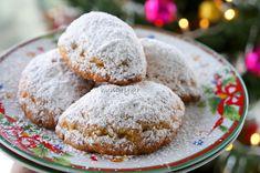 Τα Νηστίσιμα Σκαλτσούνια με Λουκούμι Walnut Cookies, Turkish Delight, Muffin, Breakfast, Desserts, Food, Morning Coffee, Tailgate Desserts, Deserts