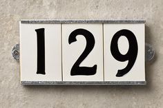 industrial style reproductions from 1920s from schoolhouse electric, ceramic house numbers shopping