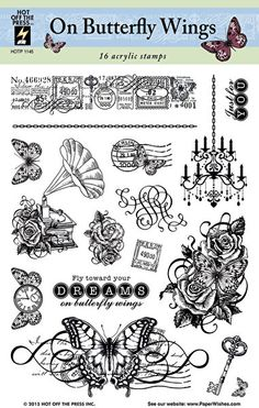On Butterfly Wings Stamp Set by Hot Off The Press Inc (1145)