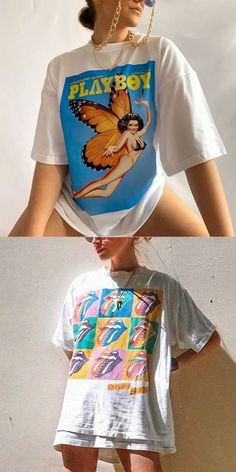 Ageluville sells a new cool, funny, graphic t shirt every 24 hours for only、$17/$18/$19! Get your limited edition tee now before its too late! #tshirts #women #graphic 90s Fashion, Fashion Outfits, Modest Fashion, Fashion Trends, Cool Printed T Shirts, Trendy Outfits, Cool Outfits, Diy Clothes, Clothes For Women