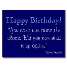 Happy birthday quote postcard
