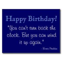 Happy birthday quote postcard