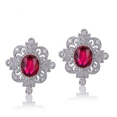 ADRIANE Boucles d'oreilles Rubis et Diamant or