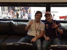 Siempre se agradecen estas visitas en el paddock @alo_oficial! It's nice to receive people like you! #ItalianGP