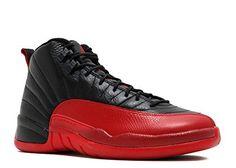 low priced 15842 a5992 Jordan Nike Mens shoes Air 12 Retro Flu Games Black Varsity Red   Air