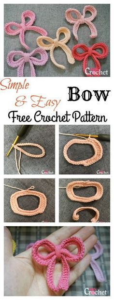 Simple and Easy Bow Free Crochet Pattern