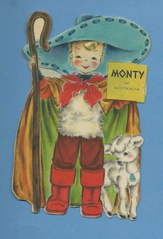 Card #29 Monty of Australia    From Hallmark: This is one of the Dolls of The Nations to add to your collection of Hallmark Doll Cards. 1