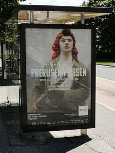 """Komu typeface in use for the exhibition """"Prerusena piesen"""" propagation materials /// Design by Pavka - www. In Use, Propagation, Material Design, Portfolio, Cover, Painting, Art, Art Background, Painting Art"""