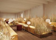 Design Therapy, arriva a Milano il nuovo Elle Decor Grand Hotel Cafe Interior Design, Cafe Design, Interior Architecture, Interior And Exterior, Design Room, Interior Modern, Kitchen Interior, Design Design, House Design