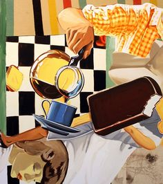 Pour, Blanket, Wind by David Salle, 2013 Modern Art, Contemporary Art, Abstract Art Images, Appropriation Art, Neo Expressionism, David, Postmodernism, Magazine Art, Artist Painting